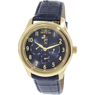 Invicta Men's Disney 25167 Gold Leather Japanese Quartz Fashion Watch