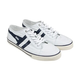 Gola Comet Mens White Canvas Lace Up Sneakers Shoes