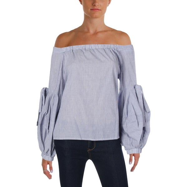 3d83d451157ba1 Shop Aqua Womens Pullover Top Balloon Sleeve Striped - Free Shipping On  Orders Over  45 - Overstock - 25994732