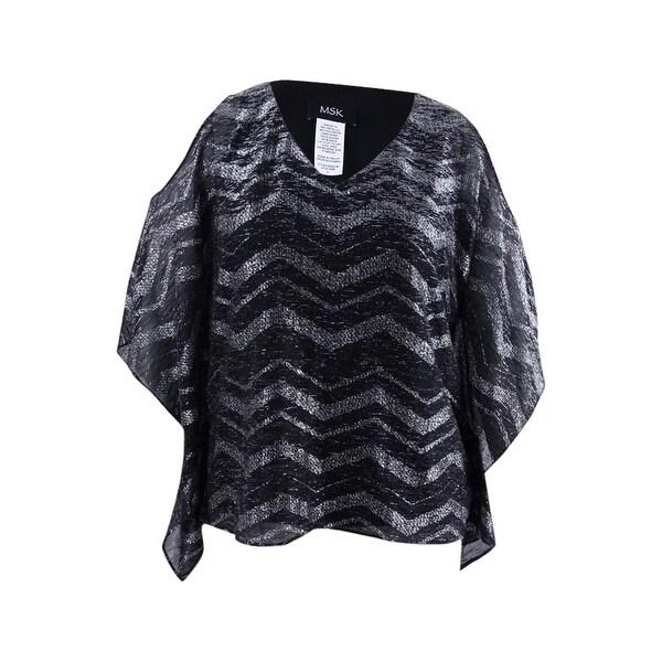 9d1bb197cd375 Shop Msk Women s Embellished Cold-Shoulder Blouse (M