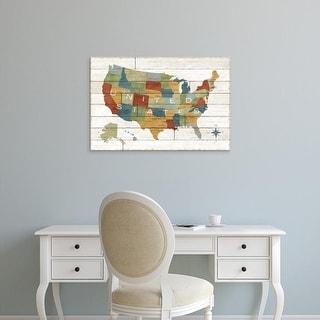 Easy Art Prints Sue Schlabach's 'Barbboard Map' Premium Canvas Art