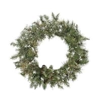"30"" Snow Mountain Pine Artificial Christmas Wreath - Unlit - green"