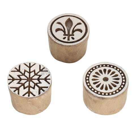Natural Color Handmade Cookie Impression Stamp for Cookies Making
