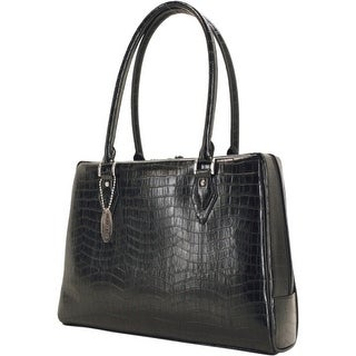 Mobile Edge MEMC1L Mobile Edge Large Milano Computer Handbag (Large) - Top-loading - Faux Croc - Black
