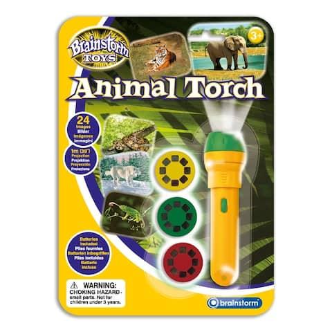 Animal Flashlight and Projector STEM Toy - Orange