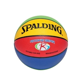 Spalding Rookie Gear Youth 27-1/2 Inch Basketball, Multi-Colored
