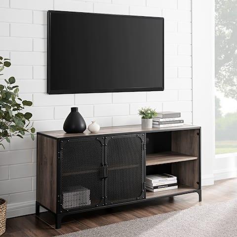 Carbon Loft 52-inch Mesh Door Industrial TV Console