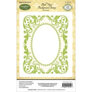 "JustRite Papercraft Cling Background Stamp 4.5""X5.75""-Bold Vines"