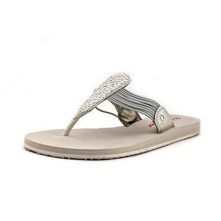 Pink & Pepper Mauie Open Toe Canvas Flip Flop Sandal