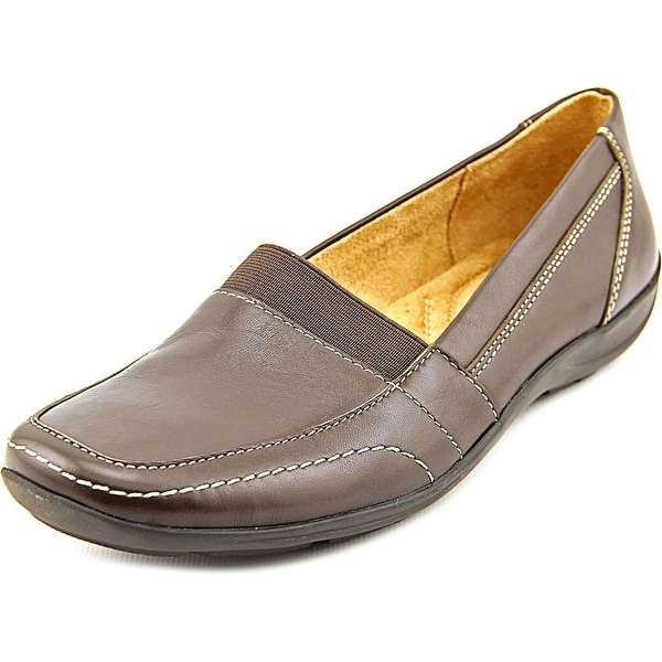 Naturalizer Fritz Women N/S Square Toe Leather Brown Loafer
