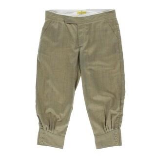Catherine Malandrino Womens Plaid Dressy Cropped Pants - 27