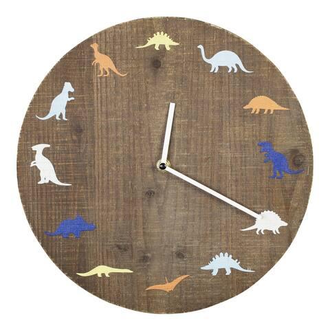 Stratton Home Decor Dinosaur Wall Clock - 12.00 X 1.75 X 12.00