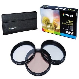 Polaroid Optics 77mm 3 Piece Special Effect Camera/Camcorder Lens Filter Set