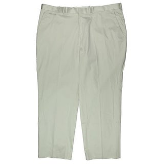 Perry Ellis Mens Big & Tall Straight Leg Tailored Fit Dress Pants