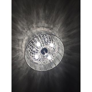 Addison White 16-inch Crystal Flush Mount