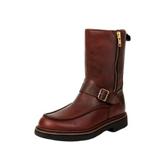 "Georgia Boot Work Men 10"" WP Zip Wellington Soggy Copper Kettle G4124"