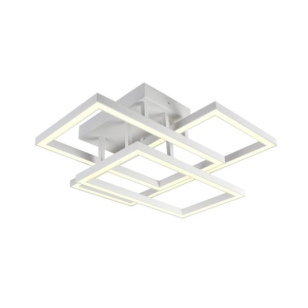 "Radium 28"" Integrated LED Rectangular Ceiling Light in White. Opens flyout."
