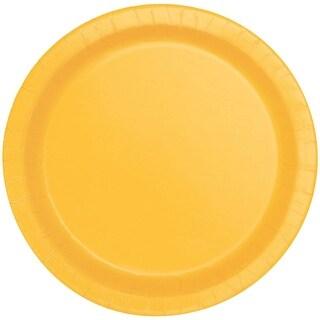 """Round Dinner Plates 8-5/8"""" 8/Pkg-Sunflower Yellow"""