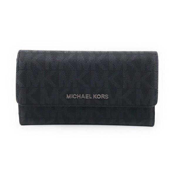 0de72f4d22b0 Shop Michael Kors Jet Set Travel Large Trifold Signature PVC Wallet ...