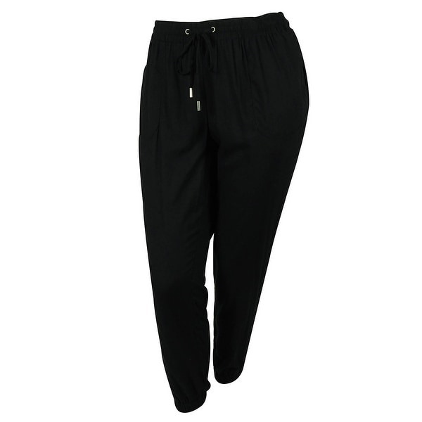 Style & Co Women's Relaxed Slim Leg Jogger Pants - Deep Black
