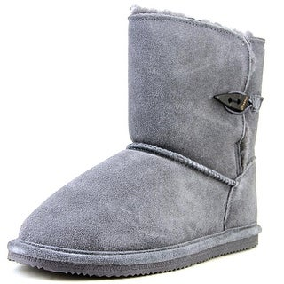 Bearpaw Abigal Youth Youth Round Toe Suede Gray Snow Boot