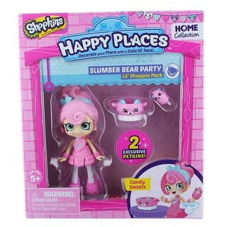 Shopkins Happy Places Lil' Shoppie Pack: Candy Sweets, Slumber Bear Party