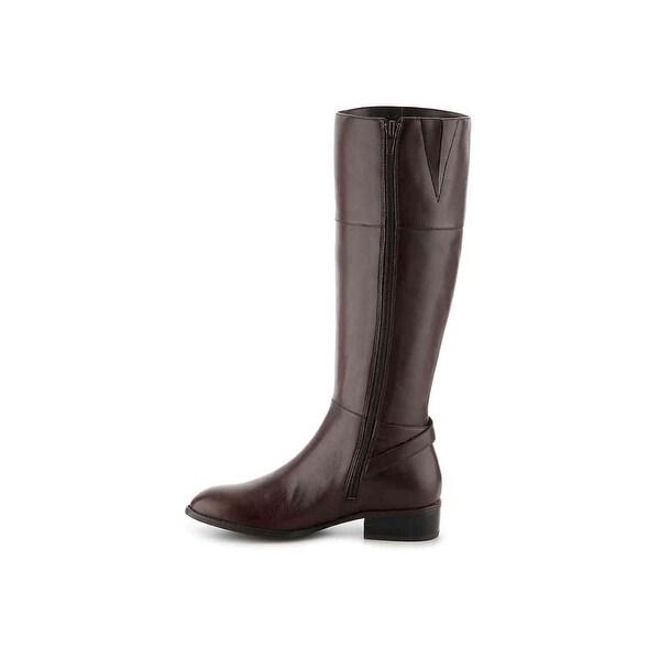 LAUREN by Ralph Lauren Womens macelyn Leather Almond Toe Knee High Fashion Bo... - 7.5