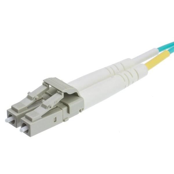 Offex 10 Gigabit Aqua Fiber Optic Cable, LC / LC, Multimode, Duplex, 50/125, 30 meter (98.4 foot)