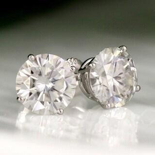 Link to Auriya 2ctw Round Moissanite Stud Earrings Platinum 4-Prong Basket - 6.5 mm, Push-Backs - 6.5 mm, Push-Backs Similar Items in Earrings