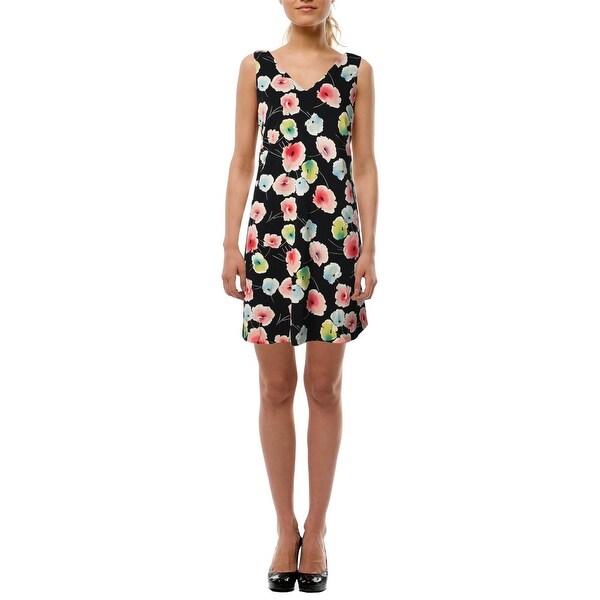 Lauren Ralph Lauren Womens Casual Dress Floral Print V-Neck