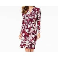 Calvin Klein Purple Womens Size 4 Floral-Printed Sheath Dress