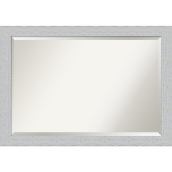 Bathroom Mirror, Shiplap White. Opens flyout.