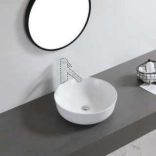 "Link to Ceramic Basin Above Counter Basin Bowl Shape White - 7'6"" x 9'6"" Similar Items in Sinks"