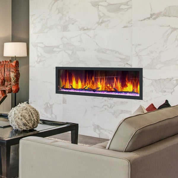Dynasty Cascade 64 in. Smart Control Electric Fireplaces-BTX64 - 64.5. Opens flyout.