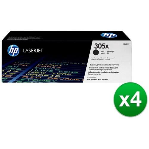 HP 305A Black Original LaserJet Toner Cartridge For US Government (CE410AG)(4-Pack)