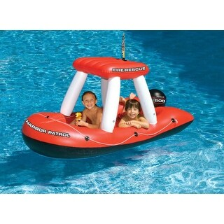 """60"""" Water Sports Fire Boat Inflatable Ride-On Water Squirter Swimming Pool Toy"""