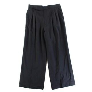 Polo Ralph Lauren NEW Black Women's Size 12 Wool Wide Leg Dress Pants