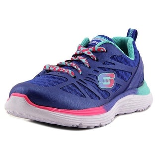 Skechers Valeris Youth Round Toe Synthetic Blue Sneakers