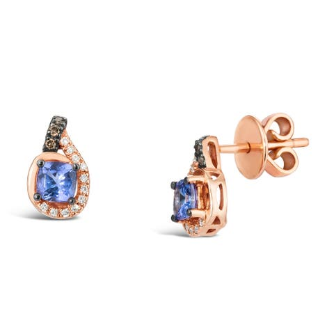 Encore by Le Vian 14K Rose Gold Tanzanite & Diamond Earrings