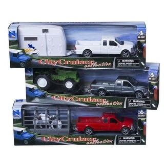 Tough-1 Western Kids Toys Truck Trailer 3 Pack Multi-Color 87-93750