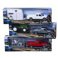 Tough-1 Western Kids Toys Truck Trailer 3 Pack Multi-Color