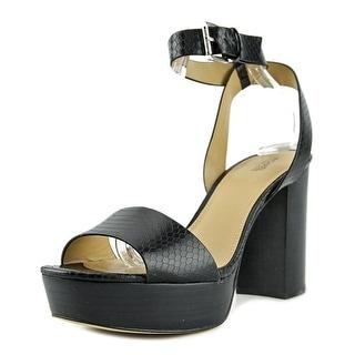 Michael Michael Kors Leonora Ankle Strap Open Toe Leather Platform Sandal