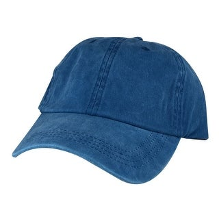 Hip Hop Skateboard PLC01 Cotton Dye Washed Unstructured Dad Cap Adjustable Strapback Hat - Blue