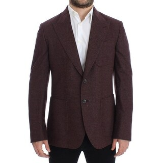 Dolce & Gabbana Bordeaux wool stretch blazer - it48-m