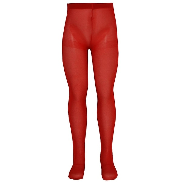 Nicole Baby Girls Red Solid Color Soft Stretchy Opaque Tights 0-24M