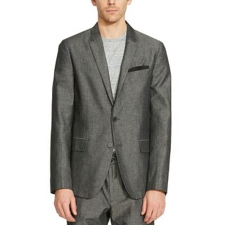 Kenneth Cole Reaction Mens Slim Fit 2 Button Sportcoat Small Blazer Black