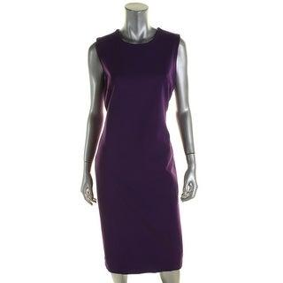 Lauren Ralph Lauren Womens Wear to Work Dress Knit Slit