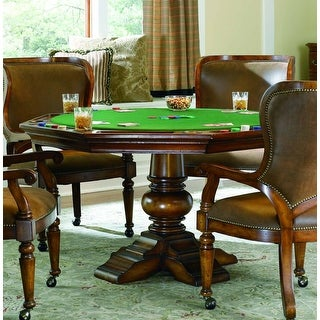 """Hooker Furniture 366-75-800  54"""" Wide Reversible Top Poker Gaming Table from the Waverly Place Collection"""