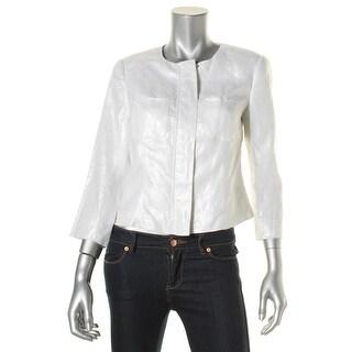 Vince Camuto Womens Jacket Linen Shimmer - 4