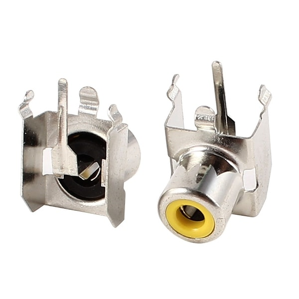 Audio Video AV Concentric Adapter Female RCA Socket Board 2 Pcs
